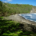 Pololu Valley Beach – One of the best black-sand beaches in Hawaii